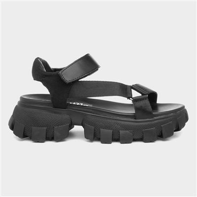 Womens Chunky Sandals in Black