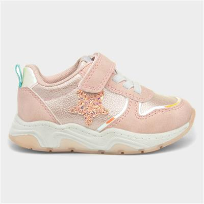 Girls Easy Fasten Trainers in Pink