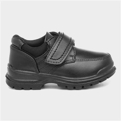 Kids Black Easy Fasten Shoe Kids Size 3 to 13