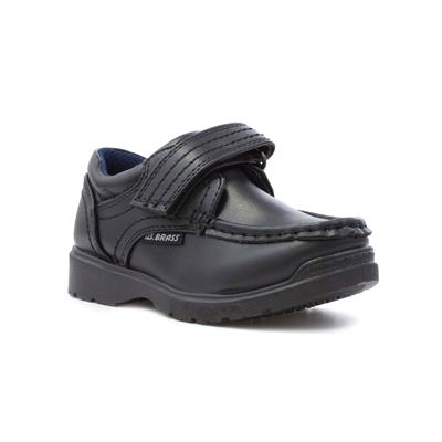 Boys Black Easy Fasten Shoe