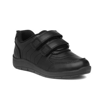 Bryce Boys Black Easy Fasten Shoe