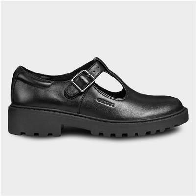 J Casey Black T-Bar Buckle Shoe Sizes 28-31