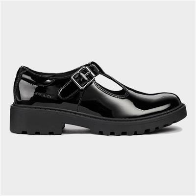 J Casey Black Patent T-Bar Shoe Sizes 28-31