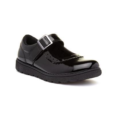 Avon Girls Black Easy Fasten Shoe