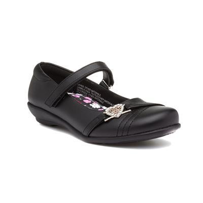 Girls Black Embellished Flat Shoe
