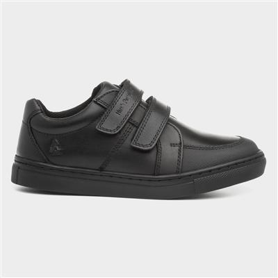Santos Boys Black Leather Shoe