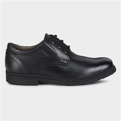 Federico Boys Lace Up Shoe Black Sizes 31-34