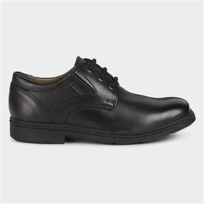 Federico Boys Black Lace Up Shoe Sizes 35-39
