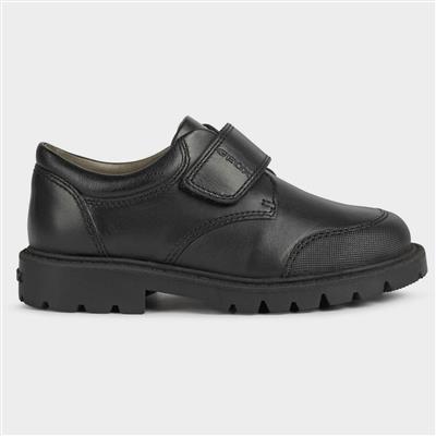 Shaylax Boys Black Leather Shoe Sizes 28-31