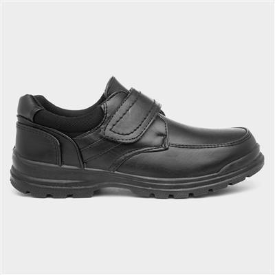 Boys Black Shoe Kids Size 8 to Adult Size 6