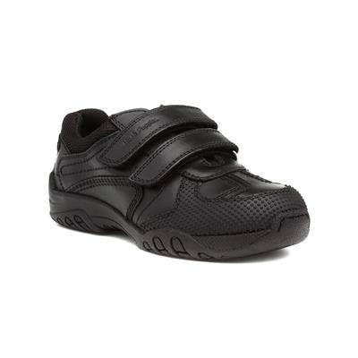 Jezza Boys Black Leather Shoe