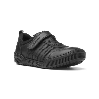 Jake Boys Black Easy Fasten Shoe