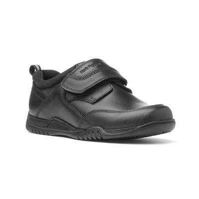 Noah Boys Black Easy Fasten Shoe