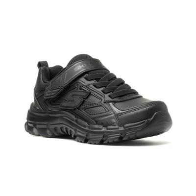 Skechers Nitrate Kids Black Leather