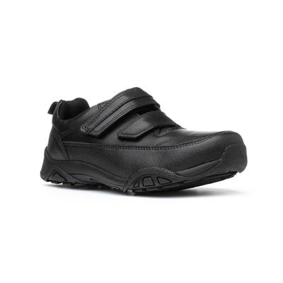Bray Boys Black Touch Fasten Leather Shoe