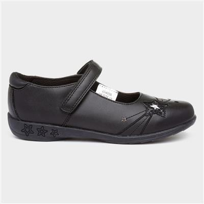 Jamaica Girls Black Bar Shoe