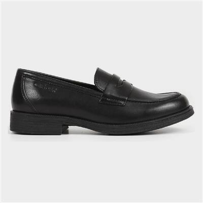 Girls J Agata D Slip On Leather Shoe in Black