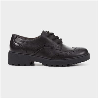 J Casey G N Girls Lace Up Shoe in Black
