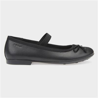 Plie' Girls School Shoe in Black