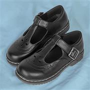 Lilley Girls Black T-Bar Buckle School Shoe (Click For Details)