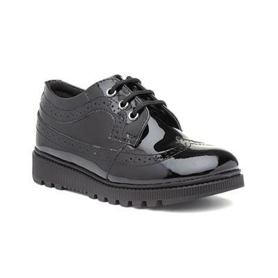 Felicity Girls Black Leather Brogue