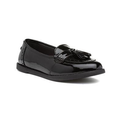 Harley Girls Black Leather Patent Loafer