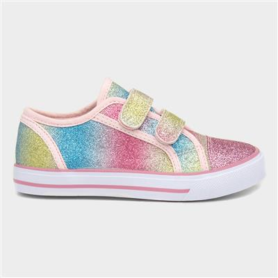 Kids Multi-Coloured Glittery Canvas