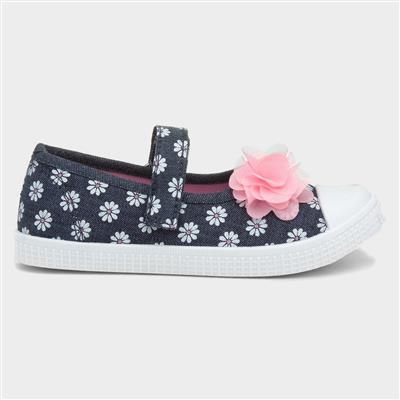 Girls Multi-Colour Touch Fasten Shoe