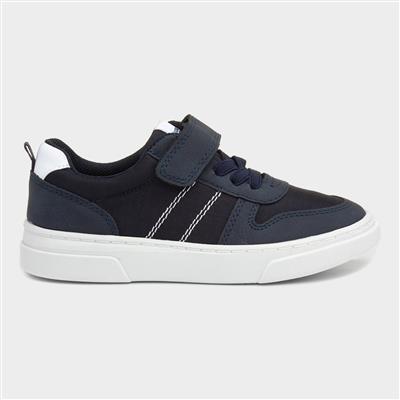 Boys Easy Fasten Shoe in Navy