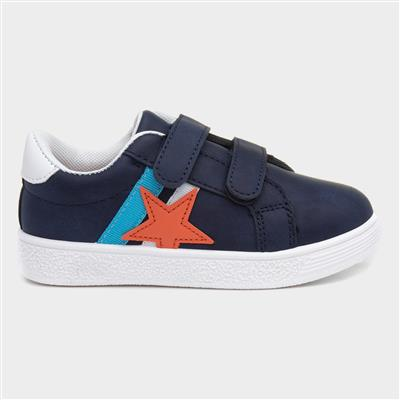 Boys Navy Touch Fasten Casual Shoe
