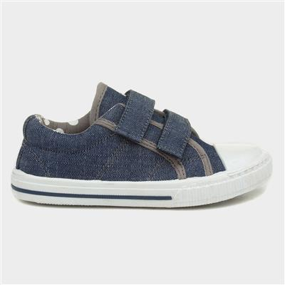 Kids Denim Easy Fasten Canvas
