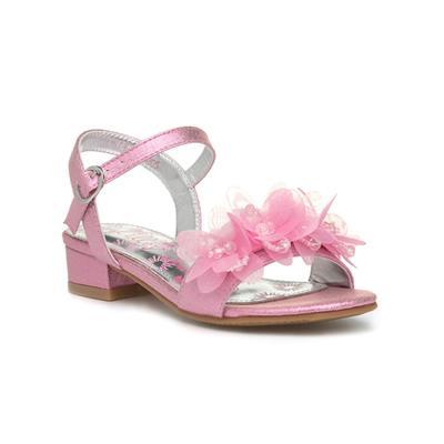 Lilley Girls Pink Floral Heeled Sandal
