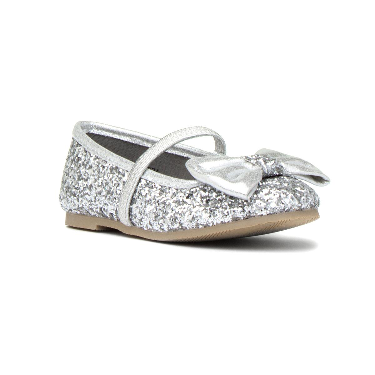 girls silver slip on shoes