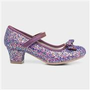 Lilley Sparkle Girls Purple Glittery Heeled Shoe (Click For Details)