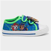 Paw Patrol Kids Blue Easy Fasten Canvas Shoe (Click For Details)