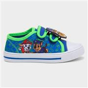 Paw Patrol Kids Blue Easy Fasten Canvas Shoe (Click For Details)