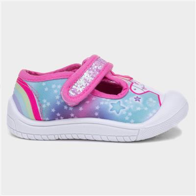 Girls Unicorn Canvas Shoe