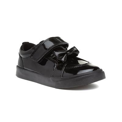 Tovni Lo Black Girls Leather Shoe