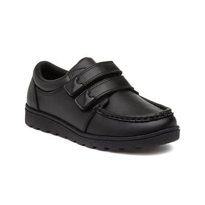 Monarch Boys Black Easy Fasten Shoe