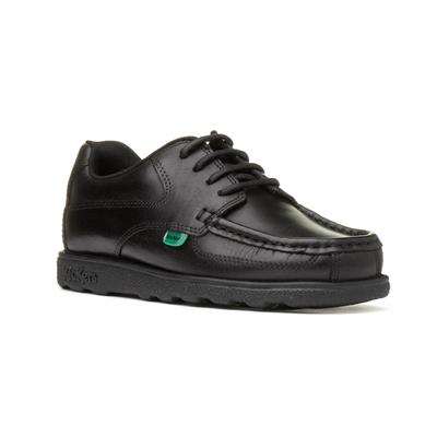 Fragma Kids Black Lace Up School Shoe