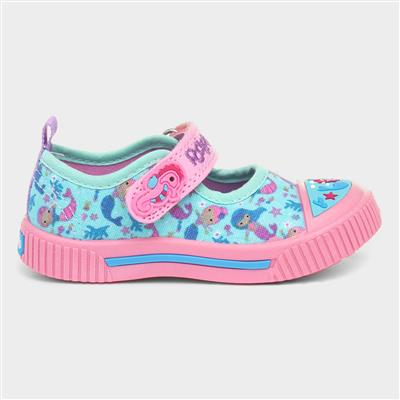 Melody Girls T-bar Easy Fasten Canvas Shoes