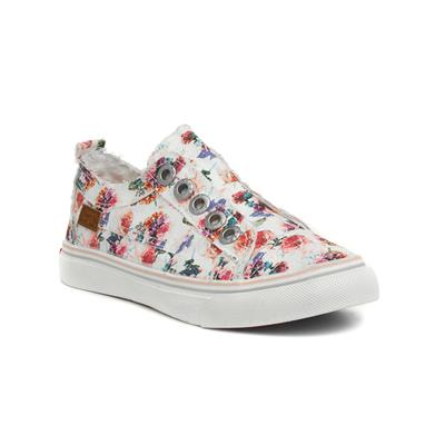 Play-K Girls Slip On Floral Canvas