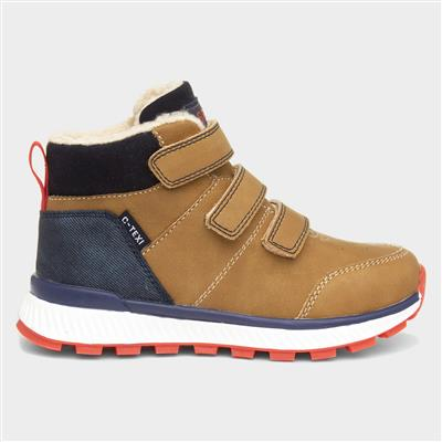 Boys Easy Fasten Boot in Camel