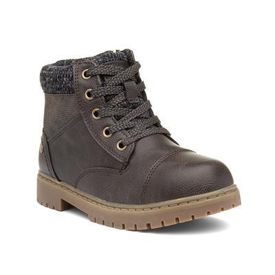 Kids Brown Zip Up Boot