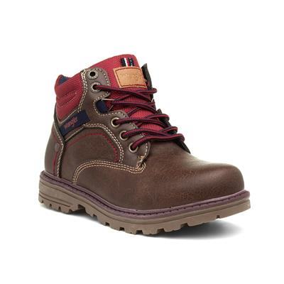 Yukon Kids Brown Lace Up Ankle Boot