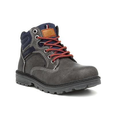Yukon Kids Grey Lace Up Ankle Boot