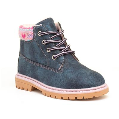 Kids Blue Sparkly Lace Up Boot