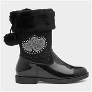 Walkright Girls Black Patent Calf Boot (Click For Details)