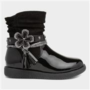 Walkright Girls Black Zip Up Ankle Boot (Click For Details)