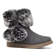 Walkright Girls Grey Faux Fur Ankle Boot (Click For Details)